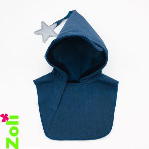 Black & Blue Baby Bonnet (polar fleece)