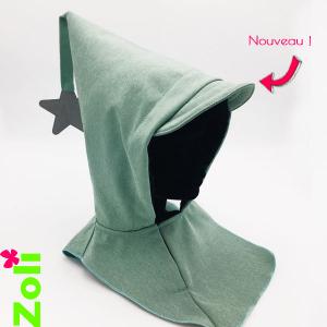Grey and Pink CapuSnood (junior)