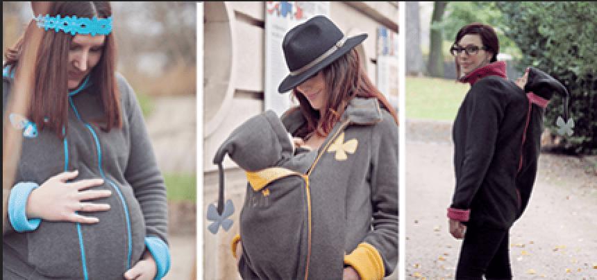 veste de grossesse et portage polaire