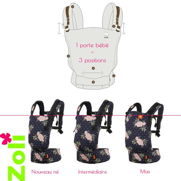 Porte bebe ergonomique Tula free to grow
